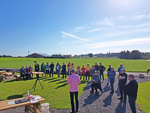 Einweihung des Algerter Dorfplatzes am Sonntag, 6. September 2020 durch Bürgermeister Horst Krybus