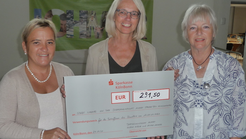mehr zur Übergabe der Spende an Bürgermeisterin Claudia Wieja