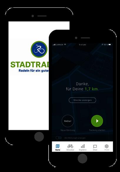 Zum Download der Stadtradel-App